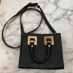 Box Mini Crossbody Bag Handbag Black Rose Gold